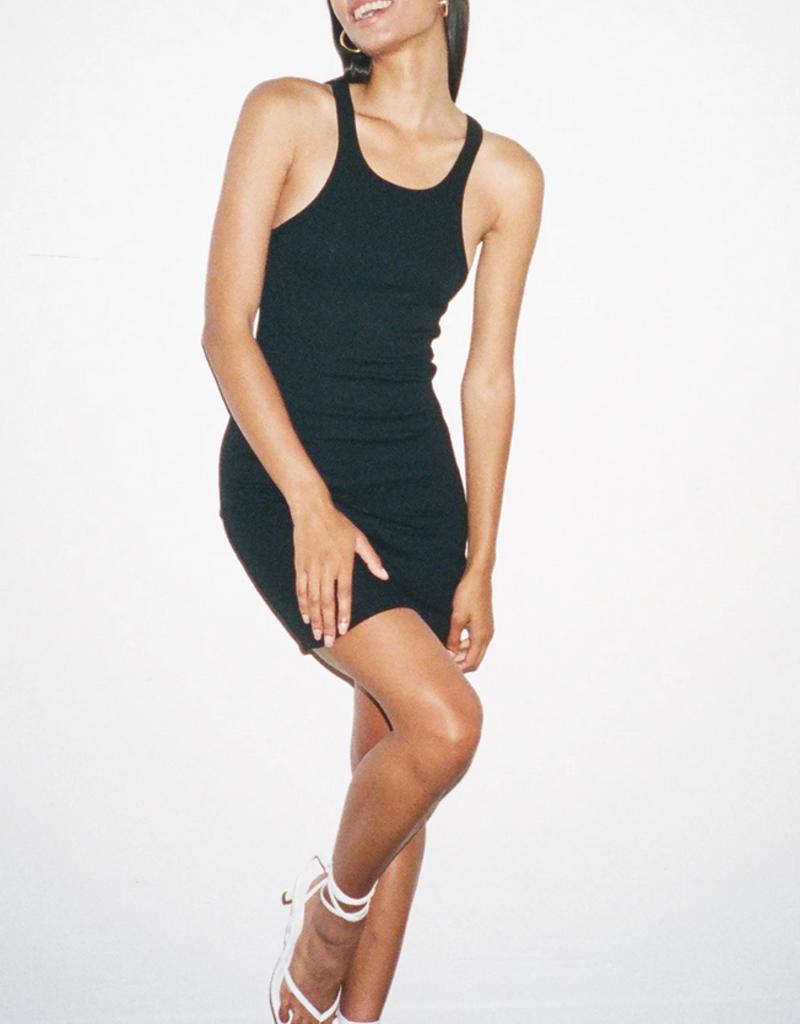 LNA Clothing Ribbed Skinny Racer Dress
