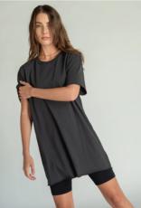 Perfect White Tee Zepplin Shirt Dress Vintage Black