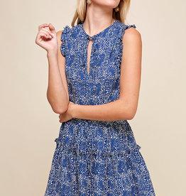 Pinch Tiered Sleeveless Mini Dress