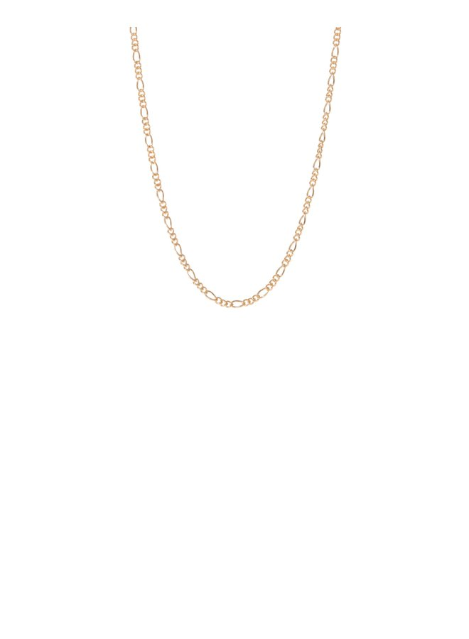 Tiny Figaro Chain Necklace