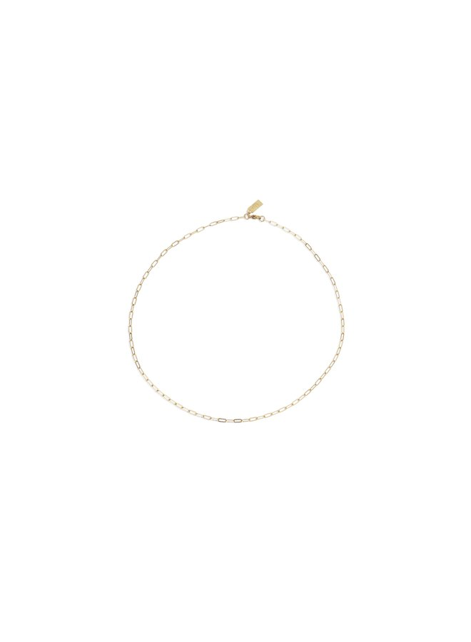 Small Flat Drawn Chain Necklace