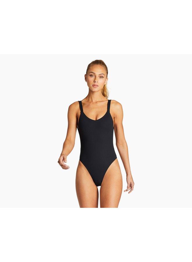 Leah Bodysuit Black EcoRib
