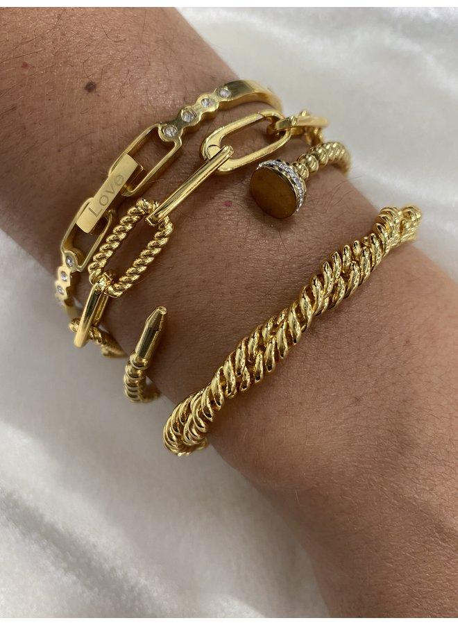 Roma Nail Cuff Gold