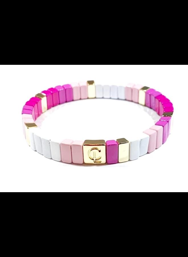 Tile Bracelet Mini Pink Ombre