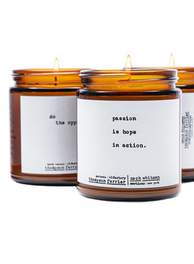 Poetry Candle