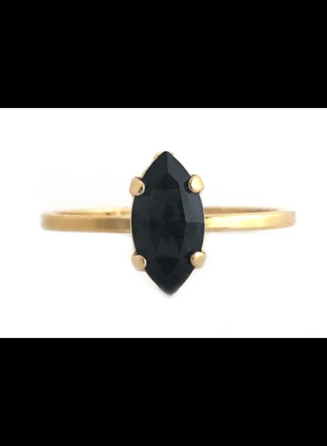 Davina Ring Jet Black