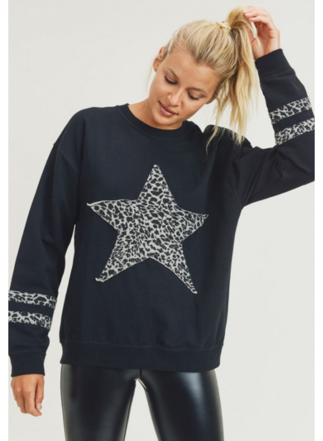 Cheetah Star & Stripes Pull Over