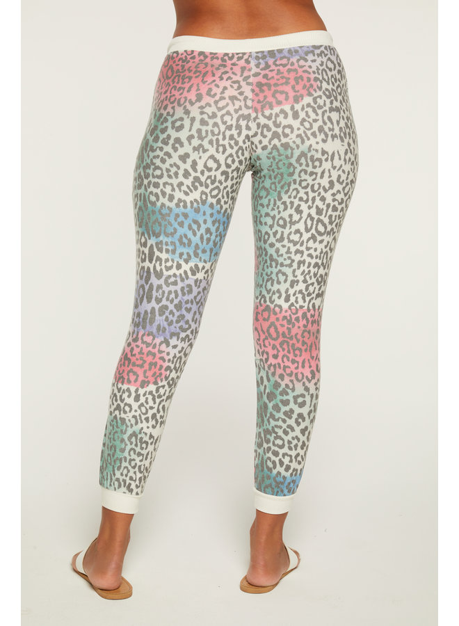 Drawstring Jogger Painted Leopard