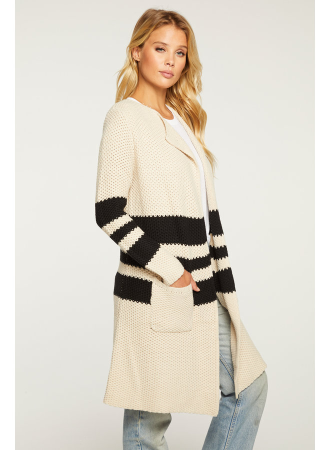 Striped Duster Natural