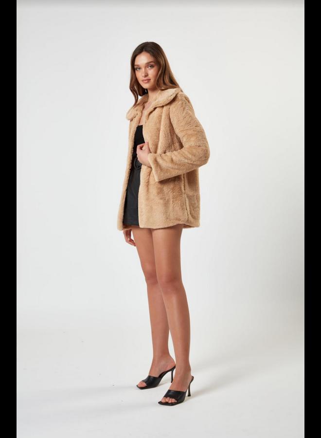 Margot Faux Fur Jacket Cream