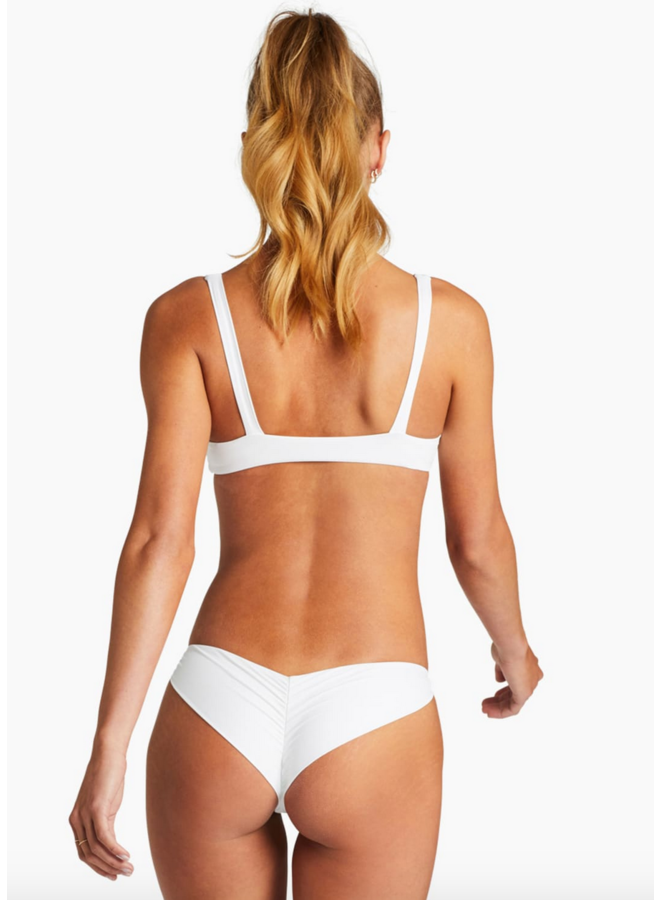 Samba Ruched Back Bottom White EcoLux