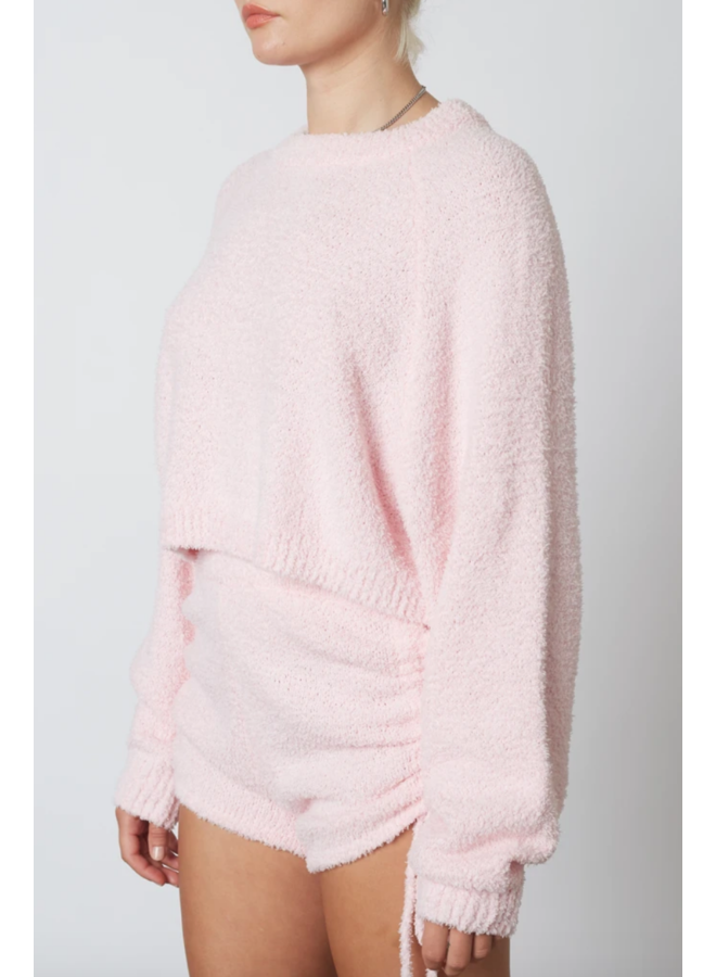 Cropped Raglan Sweater Petal