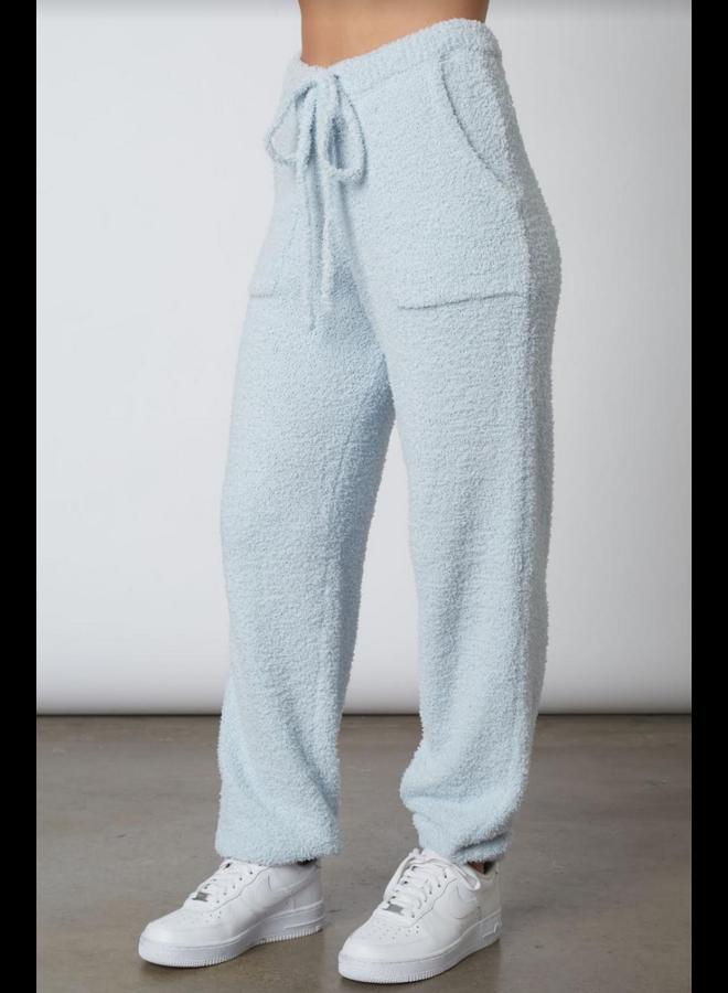 Plush Sweater Jogger Sky