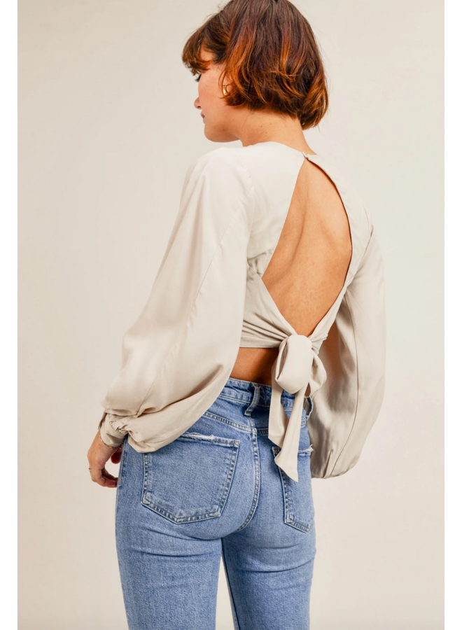 Mary Top Open Back Long Sleeve