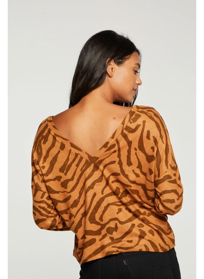Bliss Knit Long Sleeve Bengal Print