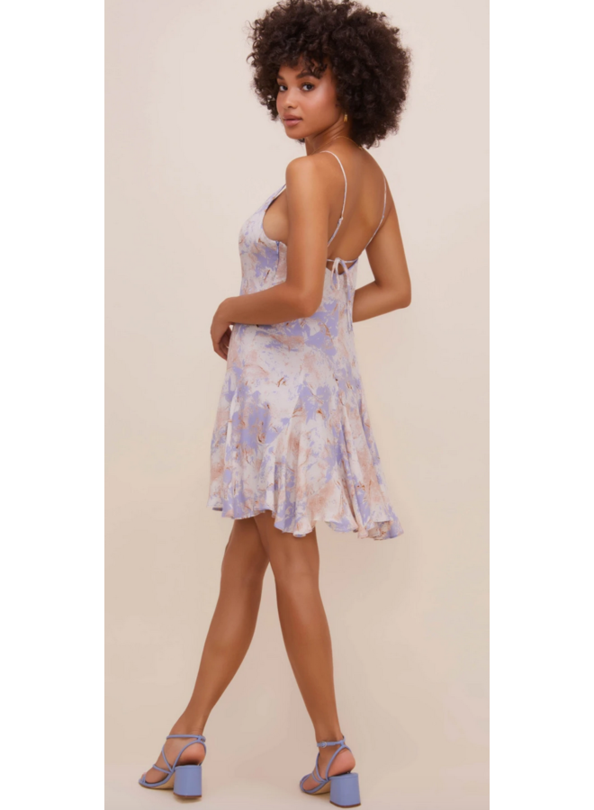 Blue Pink Tie Dress