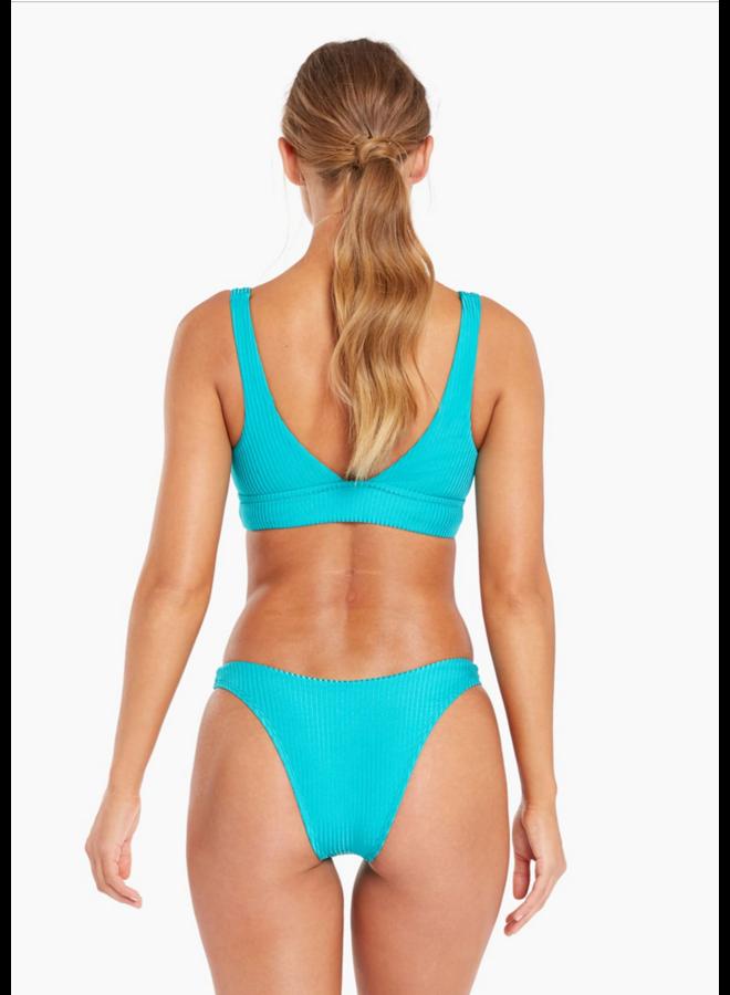 California High Leg Bottom Turquoise Shiny