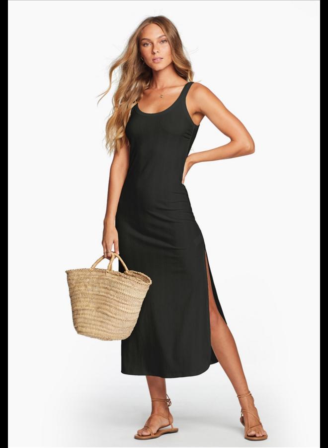 West Dress Black Rib