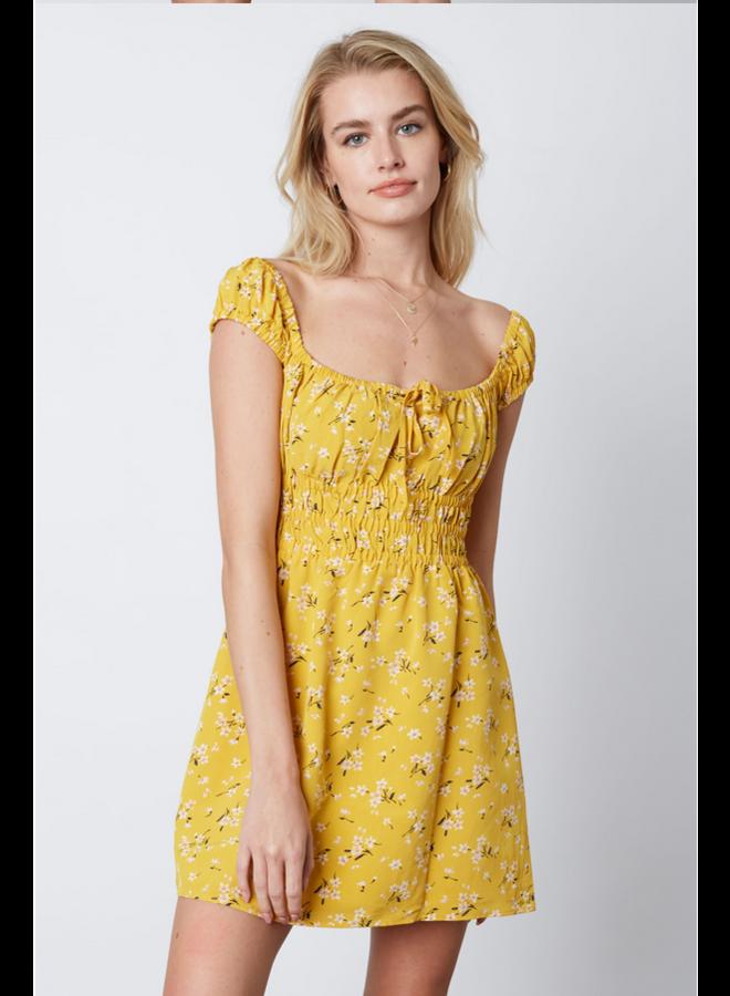 Tierra Dress Yellow Floral