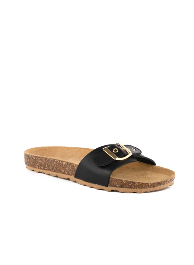Speechless Leather Sandal Black