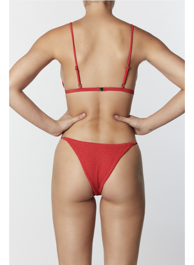 String Side Bottom Crinkle Red