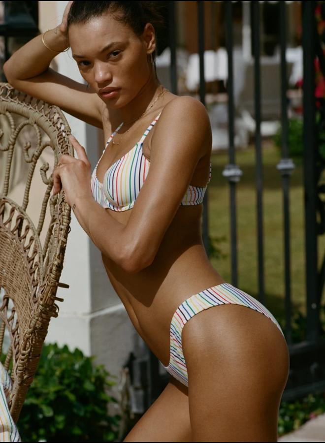 The Eva Bottom Rainbow Pinstripe