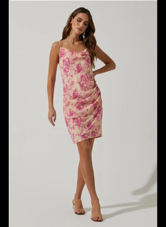 Plaza Dress Pink Tie-Dye