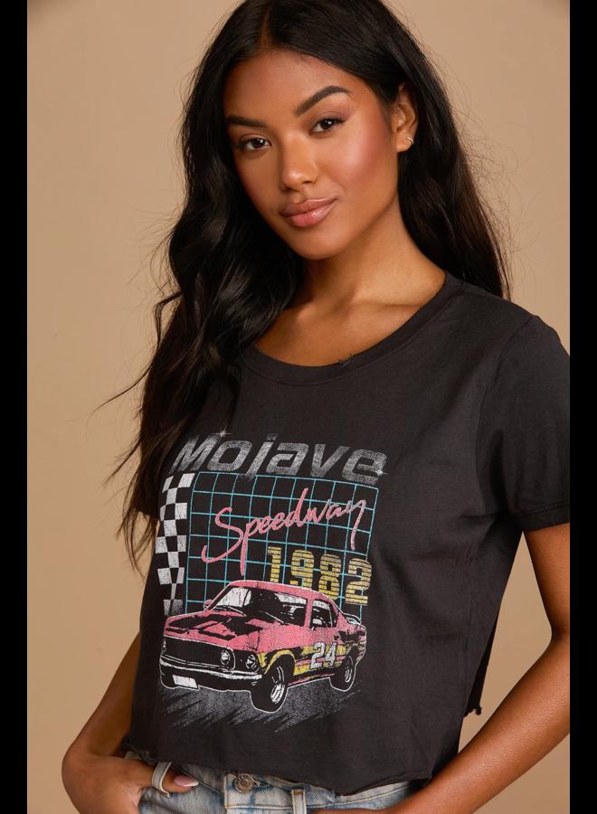 Mojave Speedway Crop Black