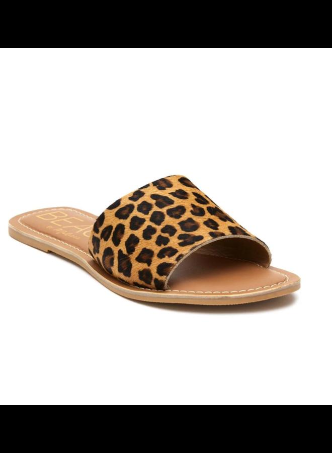 Cabana Tan Leopard Slides