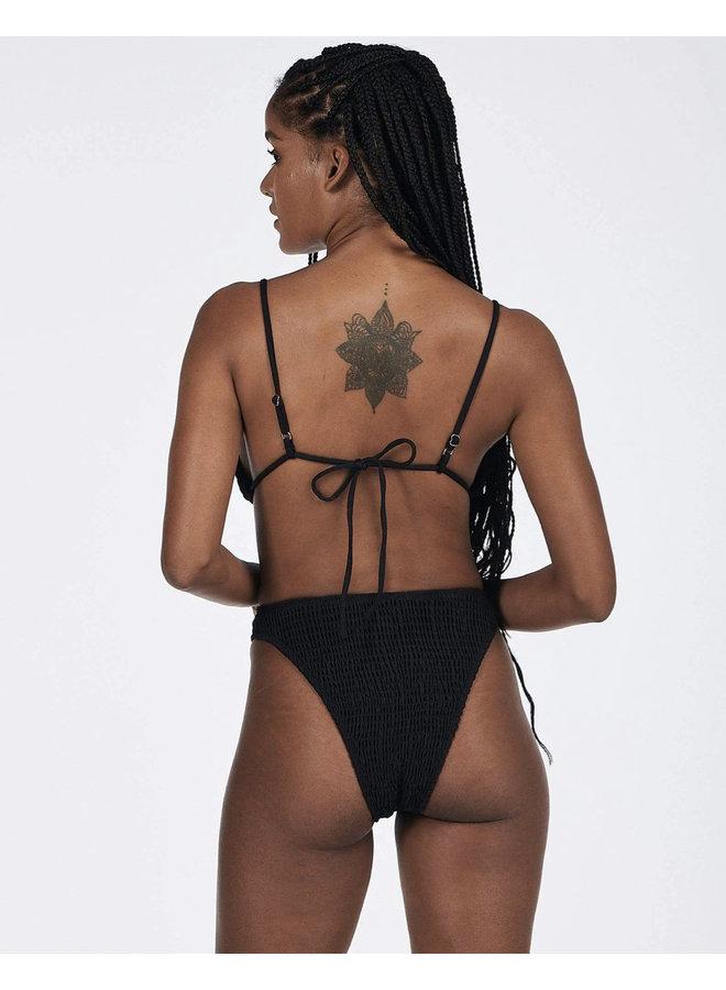 Maggie Triangle Top Black