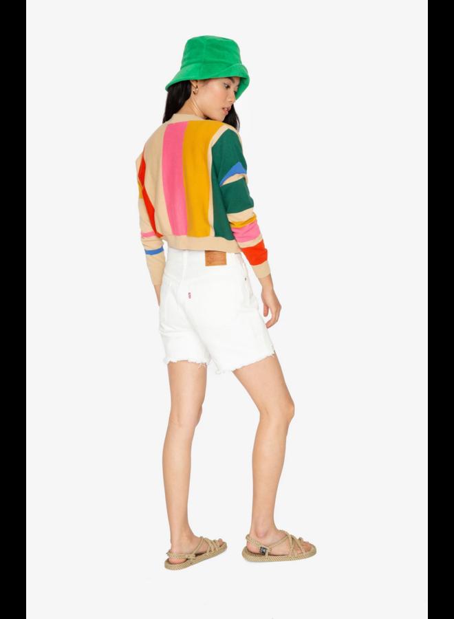 Meg Cardigan Set Multi Stripe