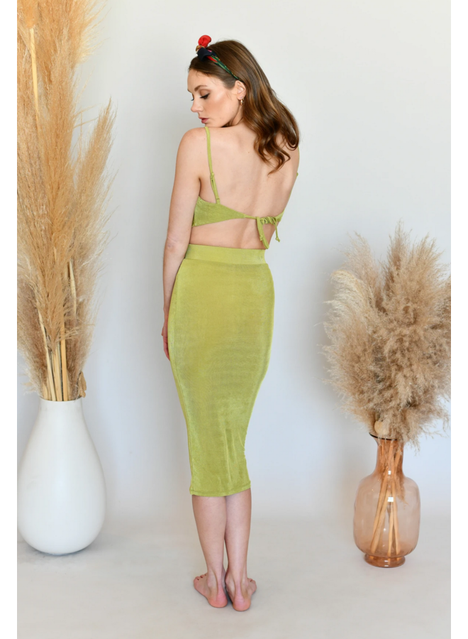 Stella Slinky Skirt Chartreuse