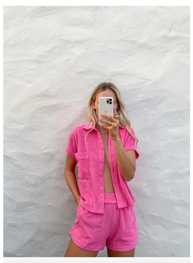 Shirt Set Pop Pink