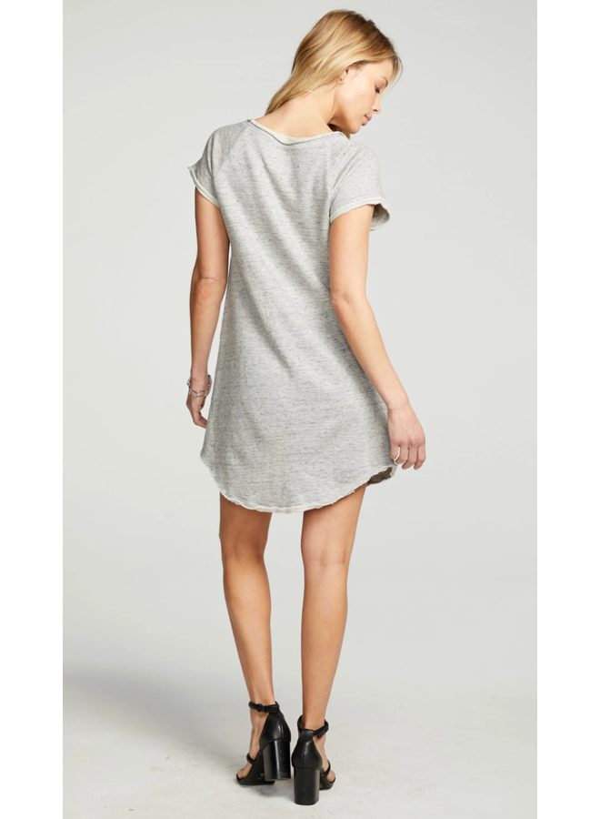 Linen French Shirttail Dress Heather Grey