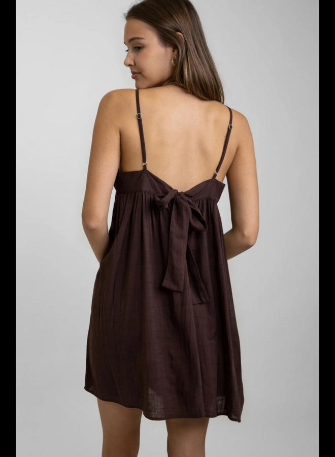 Lorne Mini Dress Chocolate