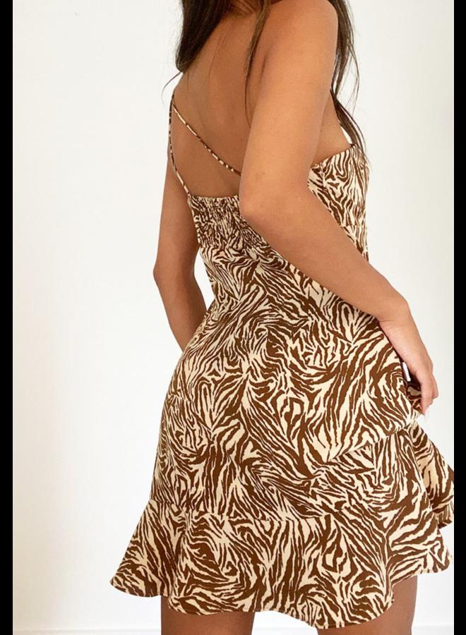 Zamia Mini Dress Brown