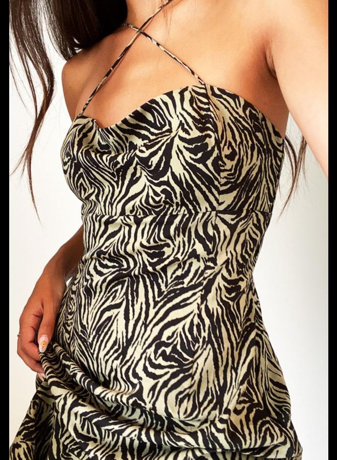 Zamia Mini Dress Leaf