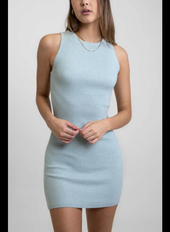 Aries Knit Mini Dress Aqua Haze