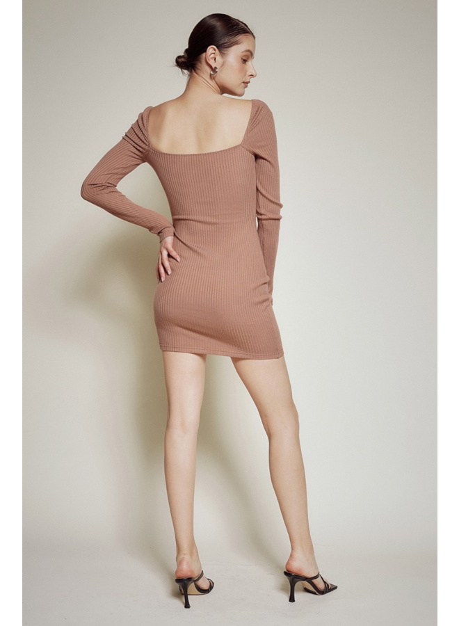 Kamryn Knit Dress Nutmeg