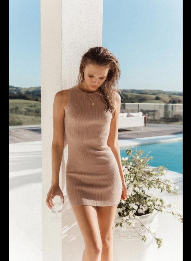 Aries Knit Mini Dress Taupe