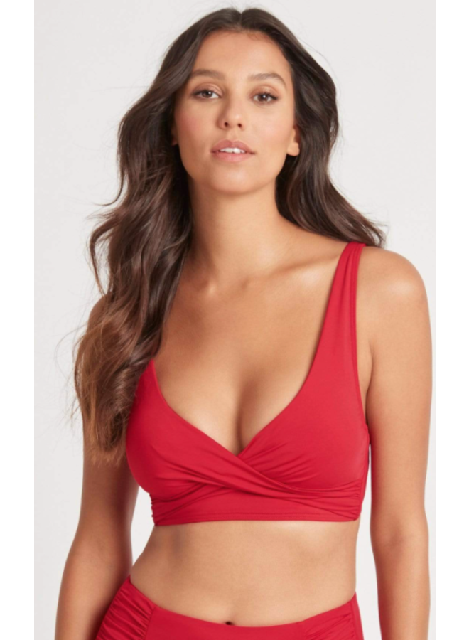 Cross Front Multifit Top Red