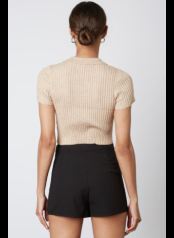 Dee Knit Sweater Top Oatmeal