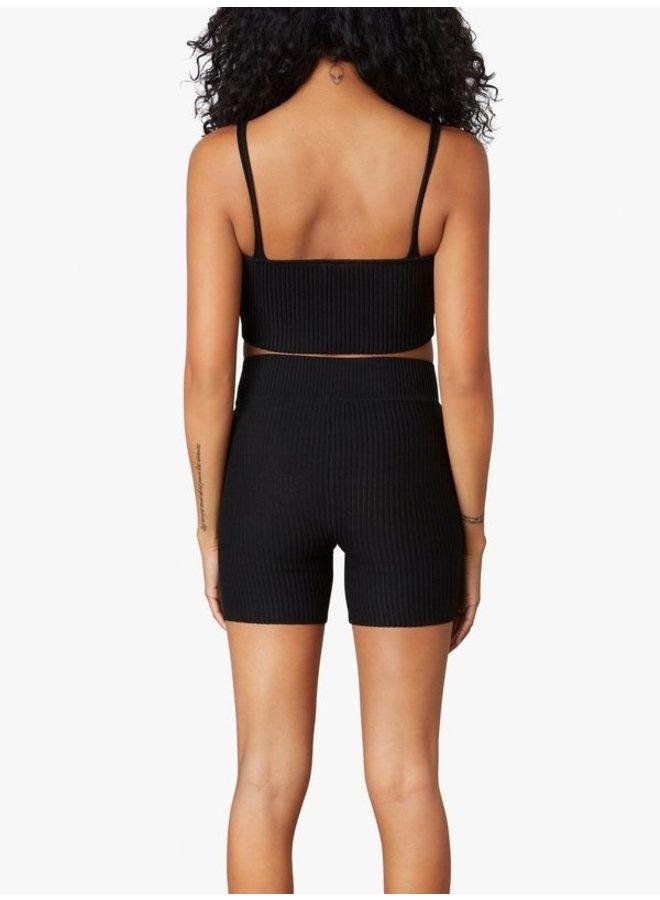 V-Shape Sweater Short Black