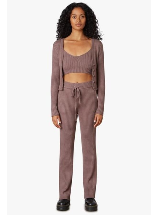 Ribbed Sweater Pant Mink