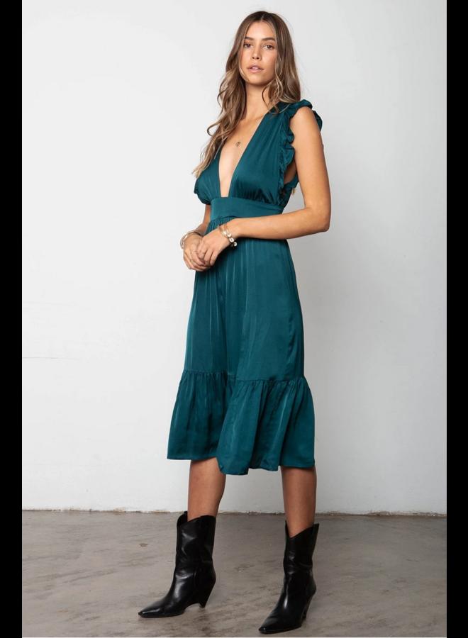 The Jessie Midi Emerald Green