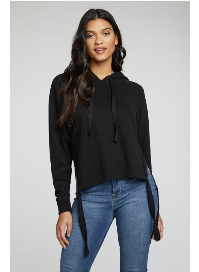 Linen French Terry Batwing Pullover