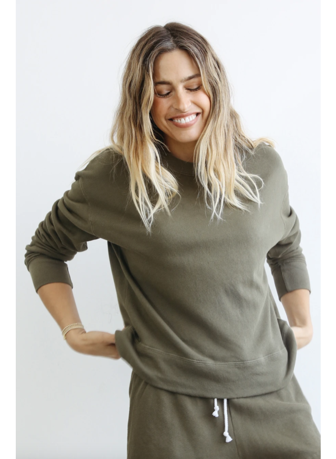 Tyler Pullover Sweatshirt Olive