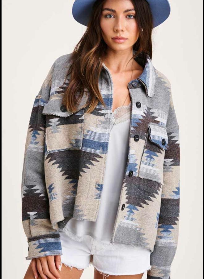 Aztec Jacket Blue Multi