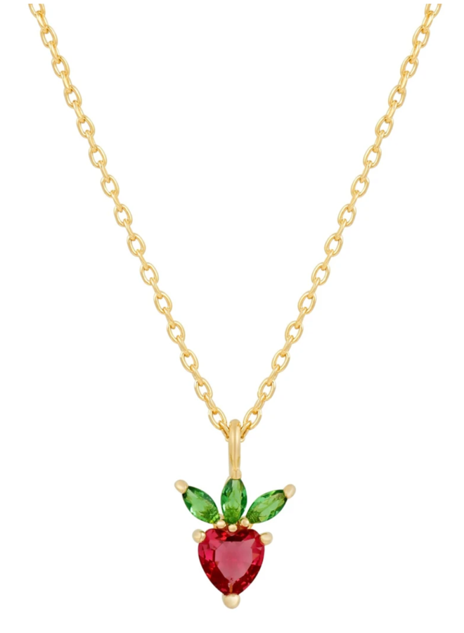 Very Berry Strawberry Necklace