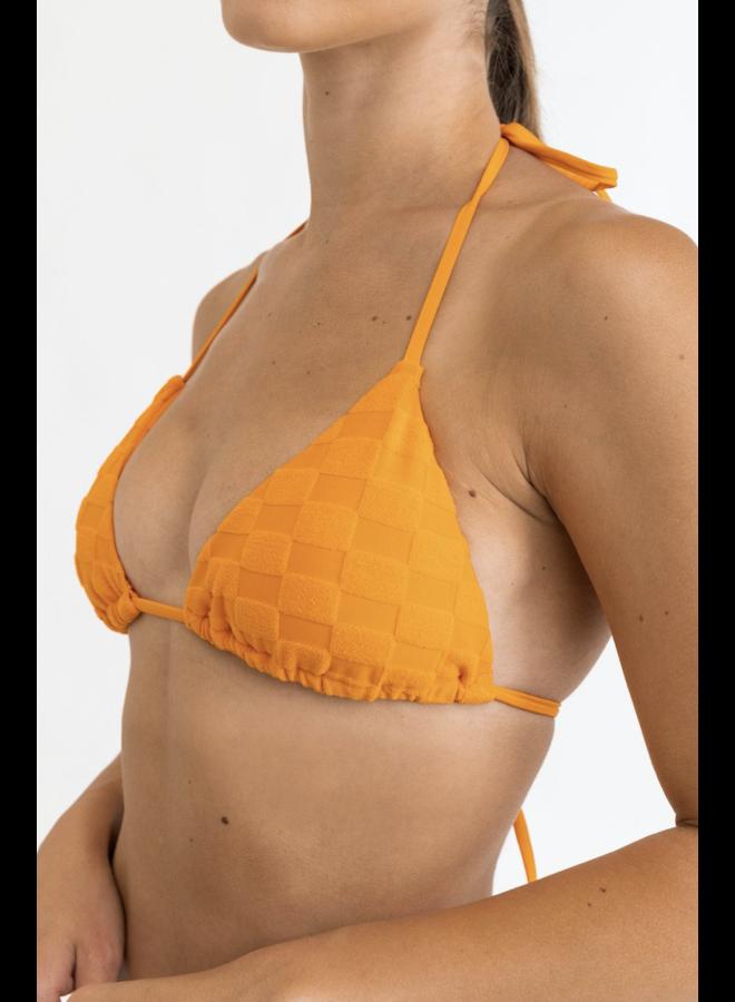 Checker Terry Slide Tri Top Orange